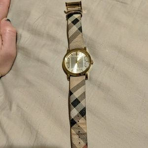 Authentic leather Burberry watch